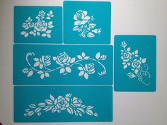 Roses tier set 5  pieces   cake decorating stencils by Stenciland, $22.00
