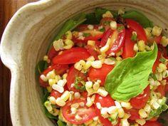 Corn, Tomato and Basil Salad