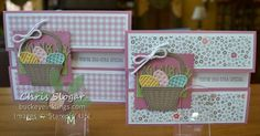 Peek-a-boo Gate Fold using Stampin' Up!'s Basket Bunch and Succulent Garden designer paper