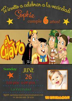 Chalkboard El Chavo del Ocho Birthday Party Invitations $8.99