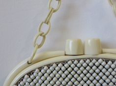 Vintage 1930s Purse / Whiting & Davis Alumesh and Celluloid by 4birdsvintage