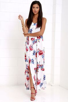 5e26506aaff Take a twirl in the Somedays Lovin' True Romance Ivory Floral Print Maxi  Dress and