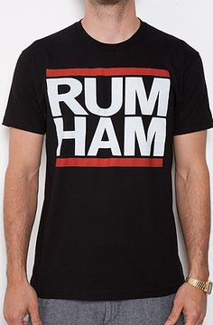 $15 The Rum Ham Tee in Black - Use repcode SMARTCANUCKS for 10% off on #PLNDR - http://www.lovekarmaloop.com