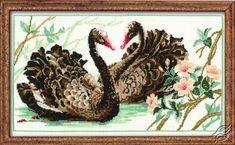 Black Swans - Cross Stitch Kits by RIOLIS - 806