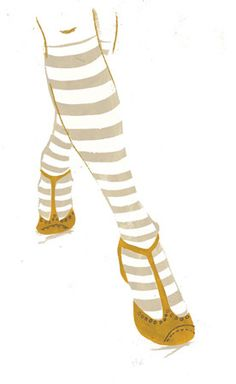 penelope dullaghan + socks + illustration + yellow shoes + stripes + ilustração + sapatos amarelos