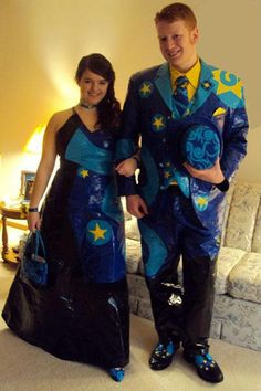 ** Prom Dress & Tux Made Out Of Duct Tape @smosh