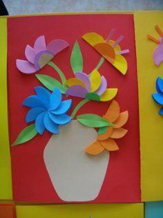 Resultado de imagem para papír slunéčko sedmitečné Mothers Day Crafts For Kids, Paper Crafts For Kids, Arts And Crafts, Origami, Shape Art, Diy Christmas Cards, Summer Crafts, Easy Drawings, Paper Cutting