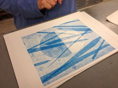 another example of a print using an interrupted inked surface;