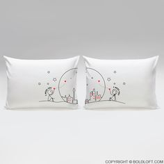 """""""I Miss Us Together! Wish you were here so I could tell you how hard every day and night has been without you!""""   This pillowcase set is a soothing reminder from you to them that you're here, you'll always be here, and you're always theirs. Keep your loved one on your mind all day long with these pillowcases, and they'll keep your heart warm with reminders of your infinite love."""