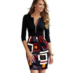 Vintage tallas grandes estilo europeo vestido De verano 2016 Vestidos De Festa falso De dos piezas De lápiz mujeres ropa Sexy vestido ajustado