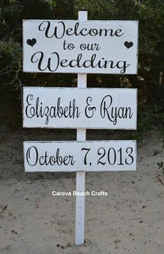 Wedding Sign Welcome Wedding Sign Outdoor Wedding. This would be great to have at the end of the driveway so people knew they were at the right place!