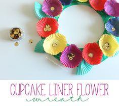 Cupcake Liner Flower Wreath | Mama.Papa.Bubba..jpg