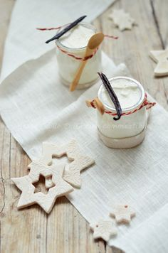 yoghurt mousse with vanilla and honey