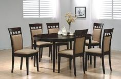 Contemporary Cappuccino Finish Solid Wood Dining Table Chairs Set by Coaster new 108999 38364 6 used new from the Most Wished For in Dining Room Furniture list for authoritative information on this products currenthis is what Im looking for Dining Room Sets, Dining Room Furniture Sets, 7 Piece Dining Set, Coaster Furniture, Modern Furniture, Furniture Decor, Luxury Furniture, Acme Furniture, Smart Furniture
