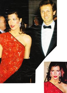 Princess Caroline of Monaco and Stefano Casiraghi at the Rose Ball March 9,1985.
