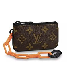 8dbbcf705 Louis Vuitton Pochette Cle Virgil Abloh SS19 Brown LV Monogram Orange Chain  | e - LV