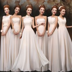 Find More Information about Vestido De Festa Longo Elegant Bridesmaid Formal Dress Champagne Floor Length 6 Mixed Styles Wedding Party Dress Long,High Quality dress up mix baby,China dress xl Suppliers, Cheap dress fantastic from Princess Sally International Co.,Ltd. on Aliexpress.com