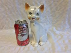 Vintage Art Pottery Cat with ring hole on neck to attach Kittens (not included) with One Chip to one Ear (see Photos) Unmarked by LilRedsRetroFinds on Etsy
