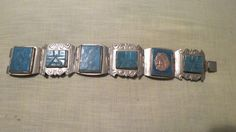 Vintage Alpaca Silver and Turquoise bracelet