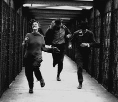 """Jeanne Moreau, Oskar Werner, Henri Serre in the movie """"Jules et Jim"""" directed by François Truffaut. You just have to fall in love with the style of this film, in fact all of Truffaut and the french new wave films. Jeanne Moreau, Jean Seberg, Martin Scorsese, Great Films, Good Movies, Jules Et Jim, New Wave Cinema, Vintage Movies, Artists"""