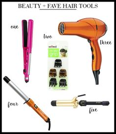 beauty + fave hair tools