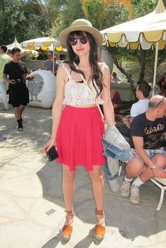 Coachella Festival Style: How sweet is this Urban Outfitters crop-top and skirt combo?