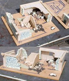 Mordheim Terrain piece 2 by skippy the wonder dog Warhammer Terrain, 40k Terrain, Game Terrain, Wargaming Terrain, Tabletop Games, Tabletop Rpg, Warhammer Fantasy, Miniature Houses, Dungeons And Dragons
