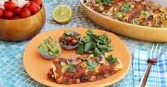 Bean & Corn Enchiladas | Forks Over Knives | #recipe #plantstrong #vegan