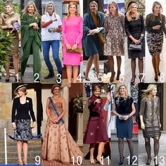 The outfits of Queen Maxima in March. What is your favorite?