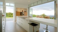 #Kitchens Brisbane - like the idea of extra length on the island for sitting.