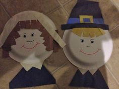 Paper plate Pilgrims - and tons of other Fall crafts