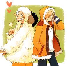 One Piece, Strawhat Pirates, Usopp, Sanji