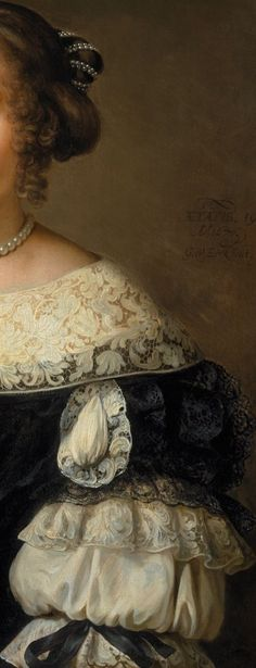 Gerbrand van den Eeckhout, Portrait of a Woman at 19 yrs old detail