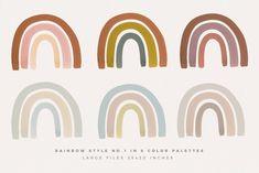 Ad: Watercolor Rainbows by Basia Stryjecka on Creative Market. - Ad: Watercolor Rainbows by Basia Stryjecka on Creative Market. Rainbow Painting, Rainbow Art, Wedding Party Invites, Party Invitations, Budget Planer, Rainbow Fashion, Web Project, Patterned Sheets, Baby Kind