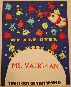 Teacher Appreciation Poster with Space Theme