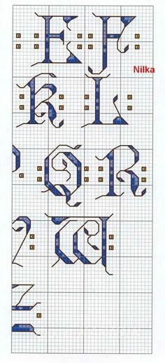 medieval alphabet  2 of 4
