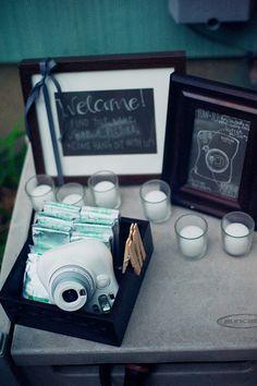 Polaroids at the tables. Wedding Signs, Wedding Bells, Our Wedding, Wedding Photo Booth, Wedding Photos, Wedding Guest Book, Wedding Reception, Sugar Lace, Perfect Wedding