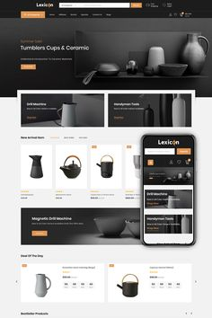 Lexicon is professional minimalist Responsive Opencart Theme built to create modern powerful e-Commerce website. Lexicon Opencart Theme is SEO optimized to be Site Web Design, Website Design Layout, Design Blog, Web Layout, Layout Design, Layout Site, Web Design Color, Web Design Websites, Minimalist Web Design