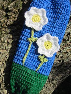 Crochet Plastic Bag Holder Blue and Green by crochetedbycharlene, $18.22