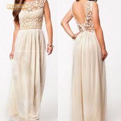 frg-A719 - Roupa Mulher Vestido Summer Sleeveless Lace Croc