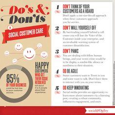 Do's and Don'ts of Social Customer Care #Infographic via @SocialOgilvy