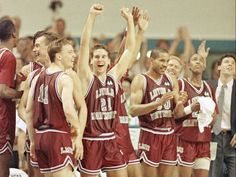Loyola Marymount's 1990 Elite Eight team overcame the death of teammate Hank Gathers in the WCC tournament, going on to defeat New Mexico State, defending national champion Michigan and Alabama before losing to UNLV.