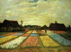 Bulb Fields – Vincent Van Gogh (1883) #painting
