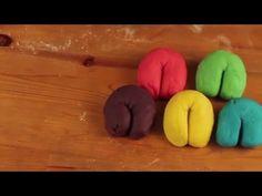 A puha, gyönyörű színű főzött gyurma receptje - YouTube