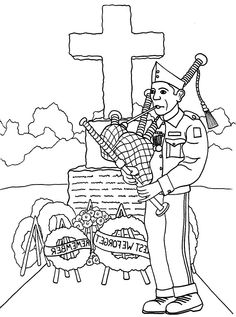 Veterans Day Remembrance Coloring Page