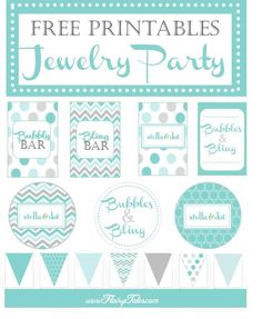 FREE printables and ideas for creating a jewelry party. This one is for a Stella & Dot trunk show. www.flairytales.com
