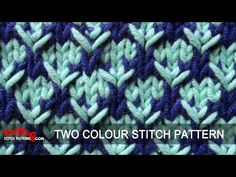 Two-Color Stitch Pattern #4