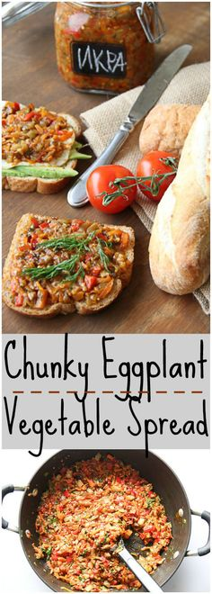 Chunky Eggplant Vegetable Spread. ValentinasCorner.com
