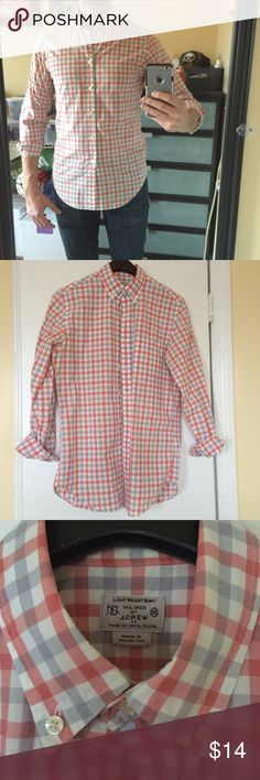 ⭐️Host Pick⭐️J. Crew Factory Gingham Button Down J. Crew Factory Light Weight Tailored fit Gingham Button Down in size XS (fits more like a Slim Small). In great condition....barely used...no stains, holes, or tears. J. Crew Factory Shirts Casual Button Down Shirts