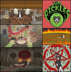 Adult Swim's newest hit sensation, Mr. Pickles, revolves around a pet dog named Mr. Pickles after his favorite treat. He also enjoys murder, mutilation and engaging in sexual debauchery when he's not worshipping the dark lord Satan. Oh, did I mention that he's demonically possessed? The entire premise of this cartoon should come as no surprise as Adult Swim has become a hub of shameless occult programming which includes subliminal symbolism, audio back-masking and depictions of…